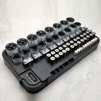 AA Battery Storage Case Organizer with Removable Tester 72 Holder Hold Box W5H