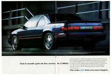 1993 CHEVROLET Lumina Euro Vintage Original centerfold Print AD Black car photo