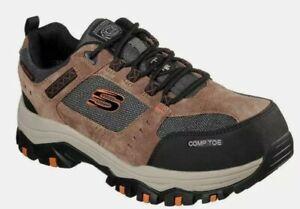Skechers Men's Brown Composite Toe Electrical Hazard Waterproof Sneaker Size 11W