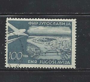 YUGOSLAVIA - C42 - USED - 1951 -PLANE OVER BELGRADE