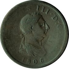 1806 LARGE PENNY OF GEORGE III.  - NICE COLLECTIBLE COIN    #11
