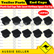 10 x Superior Plastic End Caps Tube Insert 40x40mm Square Flat Top