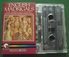 English Madrigals Amaryllis Consort Aldwinckle Harpsichord Cassette Tape TESTED