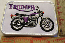 Vintage Triumph logo patch old British motorcycle collectible memorabilia emblem