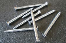 "#8 X 1-3/4"" #6  CHROME Trim Moulding Screws Head Phillips Tapping Oval Head"