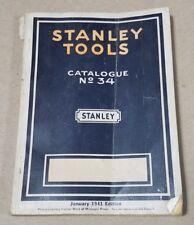 Vintage Stanley Tools No 34 Catalog - January 1941 - Carpentry Tool Catalog