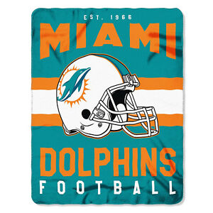 Miami Dolphins NEW Licensed Fleece Throw Blanket Football Team 50'' X 60''