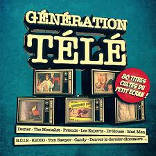 GÉNÉRATION TÉLÉ- COFFRET 4 CD/SÉRIES TV/ÉMISSIONS/DESSINS ANIMÉS