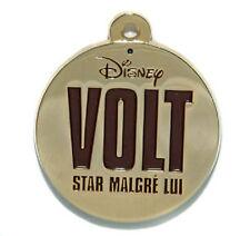 Volt Bolt Round Nametag Gold Colour Disney Land Paris Dlrp Dlp 2009 Pin