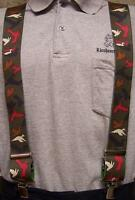 """Suspenders 2""""x48"""" FULLY Elastic Animal Duck Silhouettes NEW Olive"""