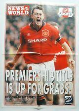 Man Utd 1990's Steve Bruce Poster News Of The World Manchester United