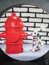 Hamilton 1996 Dalmatian'S Dream Fire Hydrant Ltd Ed Plate