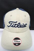 NEW! Titleist Golf khaki blue mens size M/L fitted baseball hat - cap#049 c108