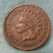 1872 Indian Head Penny GOOD+ * Circulated US Coin *
