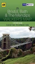 Walker's Map Bristol, Bath & The Mendips, AA Publishing, New Books