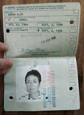 Travel Document. USA 1984 Judaica
