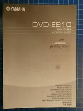 YAMAHA DVD-E810 DVD Player Owner's Manual H6530