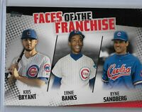 2019 Topps Series 2 baseball Faces of the franchise Chicago Cubs Black /299 SP