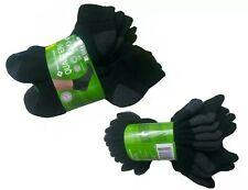 Member's Mark Men's Quarter Top Black Socks 10-Pack Shoe Size 6-12 NEW