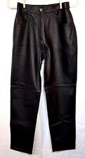 New Tower Hill Collection Black Genuine Leather Womens Jeans Pants Sz 6