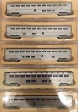 N Scale Amtrak Superliner Passenger Car Lot Bi-Level Double Decker Coach Sleeper