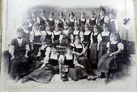 altes großes Foto Frauen Feuerwehr um 1900 ( Sebnitz, Lobendau i.B. )