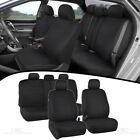 Full Set Sporty Fabric Car Seat Covers w/ Split Bench Option 5 Headrests