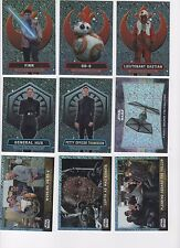 2016 Star Wars Chrome Force Awakens lot of 9 shimmer refractor inserts xx/50