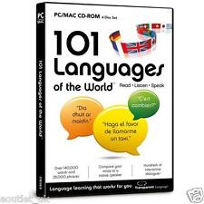 101 IDIOMAS of the World CD-ROM para PC/MAC - Aprenda a hablar francés alemán