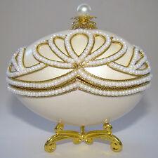 Boîte à bijoux oeuf en coquille style Faberge, Oeuf écrin à bijoux style Faberge
