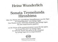 Orgelnoten Orgel Noten Heinz Wunderlich: Toccata tremolanda Hiroshima neue musik