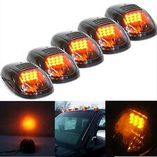 5 X 12V Smoke Lens 9LED Car Exterior Roof Signal Light Marker Running Lamp Amber