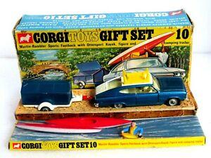 CORGI GIFT SET 10 MARLIN FASTBACK AND KAYAKS SET. ALL ORIGINAL AND SMART MODEL.