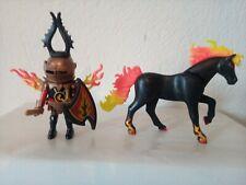 Playmobil Novelmore Burnham Knight With Fire horse