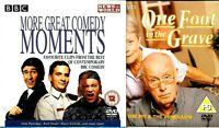 2 cardboard sleeves PROMO DVDs one foot in the grave + various comedy