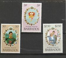 Barbados 1981 Royal Wedding Set MNH