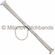12mm Kreisler Clasp Safety Chain Silver Tone Gold Tone Stainless Watch Band