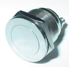 edelstahltaster,Pulsante campanello,19mm,1-polig,apertura,testa piatta 250V /