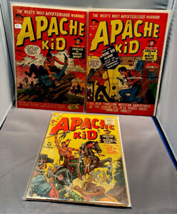 APACHE KID #2 - #4 - #14 - VERY GOOD - ATLAS/MARVELCOMICS - 1950