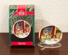 1990 Cookies For Santa Collector'S Plate Hallmark Christmas Ornament Mib
