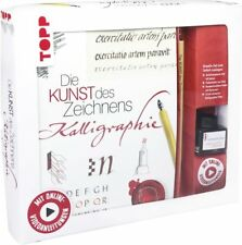 KREATIV-SET Die Kunst des Zeichnens Kalligraphie SET mit Buch, Feder und Tinte