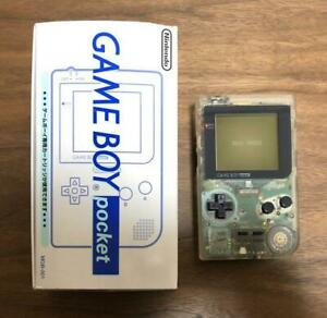 Nintendo Game Boy Pocket Clear Glico Limited BOX Game Console System