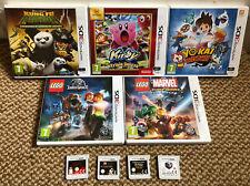 Nintendo 3DS Games Bundle x 9 - LEGO Marvel, Jurassic World, Star Wars, Kirby...