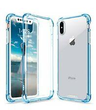 iPhone X Crystal Clear Case Hard Back TPU Frame Cover