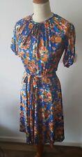 Wild Vintage 70s 80s Flowery Midi Dress Boho Glam 10
