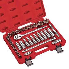 Clarke 32 piezas Unidad de 1.3cmcm Métrico plano LLAVE VASO Set - pro378 (Ref: