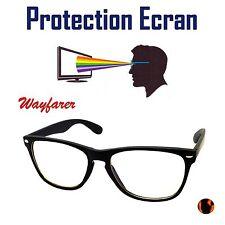LUNETTES WAYFARER PROTECTION ECRAN ANTI - LUMIÈRE BLEUE LED REPOS UV400 NOIR TOP