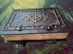Buch der Schatten 2 - bedruckt, original Hexenwissen, Grimoire, handgefertigt
