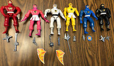 1995 Bandai 2470 2474 Mighty Morphin Power Rangers Ninja Rangers w/ Accessories