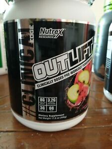 Nutrex ~ Outlift ~ Pre-Workout ~ Apple Watermelon ~ 506 grams ~ Exp 08/22